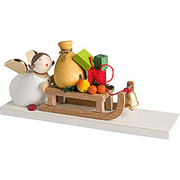 Guardian Angel with Present Sleigh - 3,5 cm / 2inch / 1.4 inch