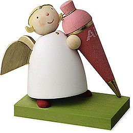 Guardian Angel with School Cone - Girl - 3,5 cm / 1.3 inch