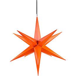 Haßlauer Weihnachtsstern für Innen und Außen orange inkl. Beleuchtung - 75 cm