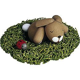 Häschen im Nest schlafend - 2,7 cm