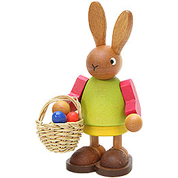 Häsin mit Eierkorb - 8,5 cm