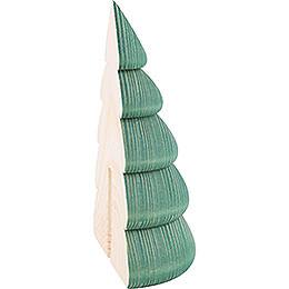Halber Baum für Wandrahmen grün - 11,5 cm