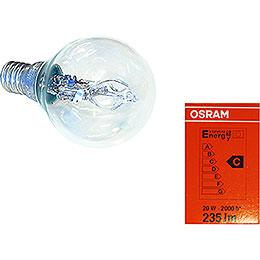 Halogen Light Bulb for Indoor Stars 29-00-I4 Bis 29-00-I8, E14, 20W