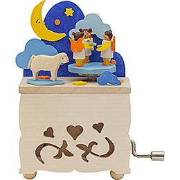 Hand Crank Music Box Moon Angel - 10 cm / 3.9 inch