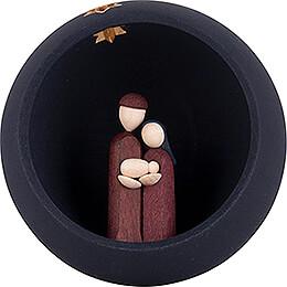 Hand Nativity - blue - 9 cm / 3.5 inch