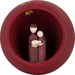 Hand Nativity - red - 9 cm / 3.5 inch