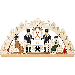 Handicraft Set - Candle Arch - Ore Mountains - 40x20 cm / 15.7x7.9 inch