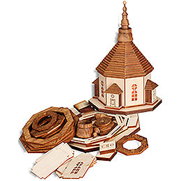 Handicraft Set Church of Seiffen with Lights - 17 cm / 6.7 inch