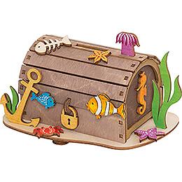Handicraft Set - Money Box - Pirate Treasure Chest - 10 cm / 3.9 inch