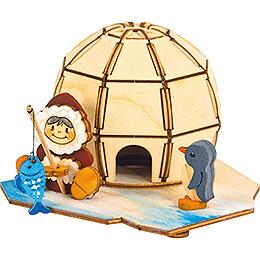 Handicraft Set - Smoking House Igloo - 9 cm / 3.5 inch