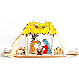Handicraft Set - Tea Light Holder - Nativity - 13 cm / 5.1 inch