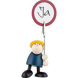 Hans with Sign Holder - 7 cm / 2.8 inch