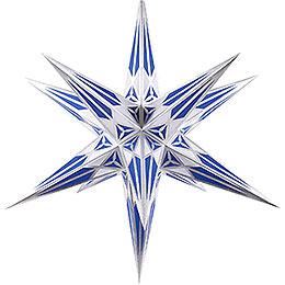 Hartensteiner Weihnachtsstern für Innen - weiß-blau mit silber - 68 cm