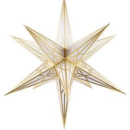 Hartensteiner Weihnachtsstern für Innen - weiß mit gold - 68 cm
