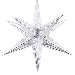 Hartensteiner Weihnachtsstern für Innen - weiß mit silber - 68 cm