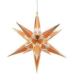 Hartensteiner Weihnachtsstern für Innen - weiß-orange mit gold - 68 cm