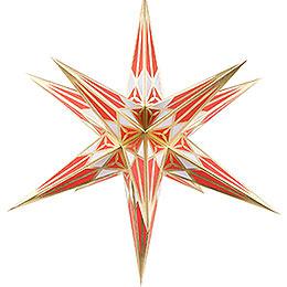 Hartensteiner Weihnachtsstern für Innen - weiß-rot mit gold - 68 cm