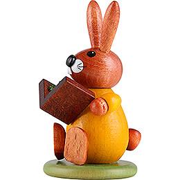 Hase gelb mit Buch - 9 cm