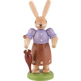 Hasenfrau farbig - 11 cm