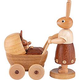 Hasenmutter mit Kinderwagen - 11 cm