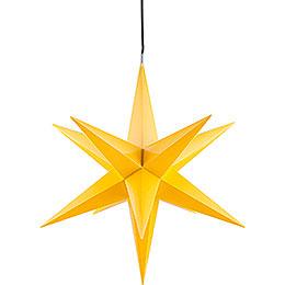 Haßlauer Weihnachtsstern für Innen und Außen gelb inkl. Beleuchtung - 75 cm