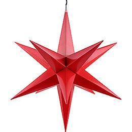 Haßlauer Weihnachtsstern für Innen und Außen rot inkl. Beleuchtung - 75 cm