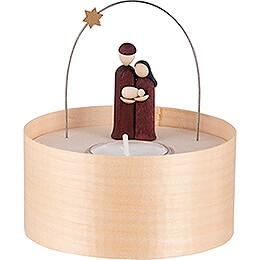 Heilige Familie Teelichtset farbig - 11 cm
