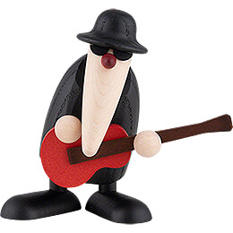 Herr Loose at the Guitar (red) - 9 cm / 3.5 inch