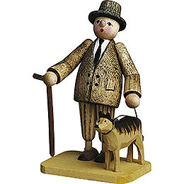 Herr mit Hund - 7 cm