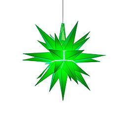 Herrnhuter Moravian Star A1e Green Plastic - 13 cm/5.1 inch