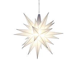 Herrnhuter Moravian Star A1e White Plastic - 13 cm/5.1 inch