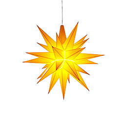 Herrnhuter Moravian Star A1e Yellow Plastic - 13 cm/5.1 inch