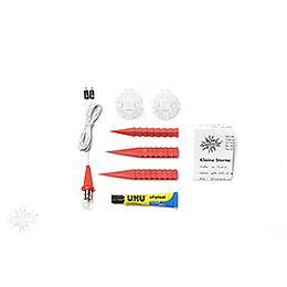 Herrnhuter Moravian Star DIY Kit A1b Red Plastic - 13 cm/5.1 inch
