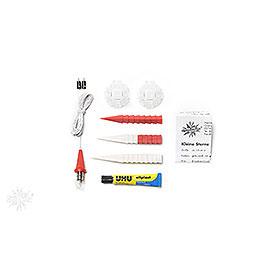 Herrnhuter Moravian Star DIY Kit A1b White/Red Plastic - 13 cm/5.1 inch