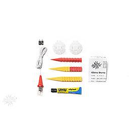 Herrnhuter Moravian Star DIY Kit A1b Yellow/Red Plastic - 13 cm/5.1 inch
