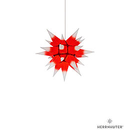 Herrnhuter Moravian Star I4 White with Red Core Paper - 40 cm / 15.7 inch