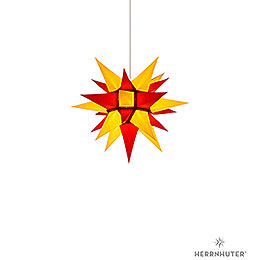 Herrnhuter Moravian Star I4 Yellow/Red Paper - 40 cm / 15.7 inch