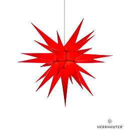 Herrnhuter Moravian Star I7 Red Paper  -  70cm / 27.6 inch