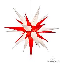 Herrnhuter Stern A13 weiss/rot Kunststoff - 130 cm