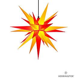 Herrnhuter Stern A7 gelb/rot Kunststoff - 68 cm