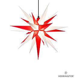 Herrnhuter Stern A7 weiss/rot Kunststoff - 68 cm