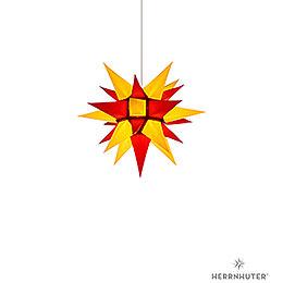 Herrnhuter Stern I4 gelb/rot Papier - 40 cm