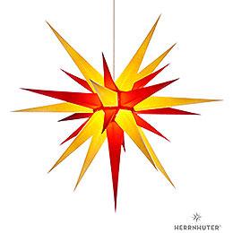 Herrnhuter Stern I8 gelb/rot Papier - 80 cm