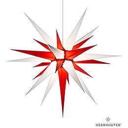 Herrnhuter Stern I8 weiß/rot Papier - 80 cm