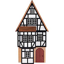 Hintergrundhaus Geschäftshaus mit vorgesetztem Fachwerkanbau - 16 cm