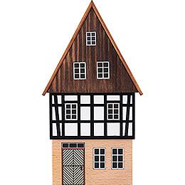 Hintergrundhaus Wohnhaus Giebelhaus mit verbrettertem Giebel - 16 cm