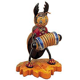 Hirschkäfer mit Ziehharmonika - 8 cm