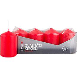 Hochwertige Stumpenkerzen rot - 3,8 cm Durchmesser