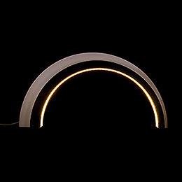 Holz-Design-LED-Bogen - dunkel - KAVEX-Krippe - 75x40 cm