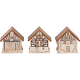 Houses for Candle Arch Lamps - 3 pcs. - 5,5x5 cm / 2.2x2 inch
